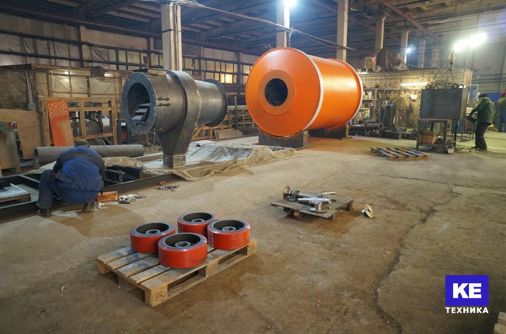 Завершающий этап производства сушильного комплекса производительностью 1 т/ч