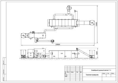 Конвейерный сушильный комплекс 1 тч